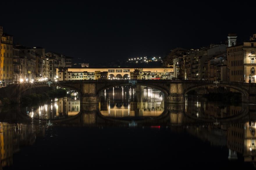 Ponte alle Grazie, Ponte Vecchio da Ponte alla Carraia